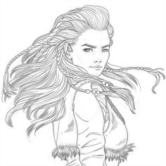 Because this game is absolutely mindblowing and inspiring ♥ Aloy - Horizon Zero Dawn WIP Horizon Zero Dawn Aloy, Coloring Books, Coloring Pages, Colouring, Pencil Drawings, Art Drawings, Witcher Art, Mickey Mouse Wallpaper, Colorful Drawings