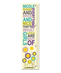 Take a look at this Purple 'Sugar & Spice' Personalized Growth Chart on zulily today!