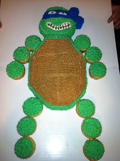 Teenage Mutant Ninja Turtles Ninja turtle birthday cake Turtle