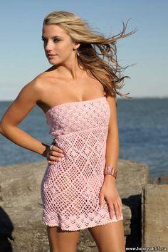 Inspirações de Croche com Any Lucy: Vestido ou Saída de Praia