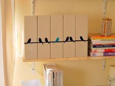 How to Covers Folders With Fabric and Felt Birds