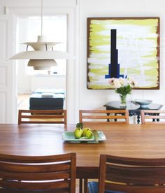 dining chairs by Morten Gøttler in danish home