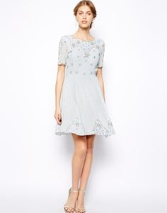 Image 4 of Frock and Frill Embellished Skater Dress #TopshopPromQueen