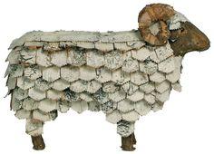 Sheep stool made from birch from Plurielle Sheep Art, Sheep Wool, Metal Garden Art, Metal Art, Sculpture Art, Sculptures, Baa Baa Black Sheep, Sheep Crafts, Cute Sheep