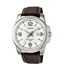 Shop for Casio Women's Core Brown Leather Quartz Watch with White Dial. Get free delivery On EVERYTHING* Overstock - Your Online Watches Store! Gents Watches, Watches For Men, Wow Deals, Outfits Kombinieren, Color Plata, Fashion Days, Casio Watch, Quartz Watch, Fashion Watches