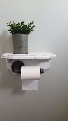 Rustic bathroom toilet paper holder has so much character with the metal pipe attached to a decorative shelf. Perfect addition to your farmhouse bathroom with attached shelf for decor or toiletries…More Rustic Toilet Paper Holders, Bathroom Toilet Paper Holders, Toilet Paper Storage, Rustic Bathroom Decor, Rustic Bathrooms, Rustic Decor, Bathroom Ideas, Bathroom Vanities, Kitchen Rustic