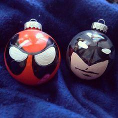 Geek Art Gallery: Crafts: Superhero X-Mas Ornaments | Christmas ...