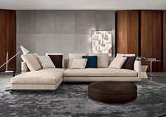 ANDERSEN SLIM 90 - Designer Sofas from Minotti ✓ all information ✓ high-resolution images ✓ CADs ✓ catalogues ✓ contact information ✓ find. Living Room Sofa Design, Living Room Colors, Living Room Grey, Small Living Rooms, Living Room Modern, Living Room Interior, Living Room Designs, Living Room Decor, Small Sectional Couch
