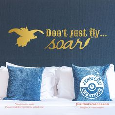 Don't just fly… Soar - Dumbo Inspired Disney Quote Wall Vinyl Decal, Laptop Decal, Macbook Decal, Stairs Decal