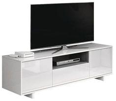 Salón Bajo 150-3Puertas+1Hueco Blanco/Gris ceniza 150x47x41 cm