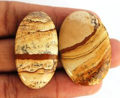 02 Pcs Picture Jasper Gemstone Cabochons 39x21x6 MM Oval Natural Amazing Quality Gemstone for Wirewrapping DIY Pendants Jewelry Supplies http://etsy.me/2CJg2ux #supplies #gold #engagement #newyears #oval #beading #brown #picturejasper #cabochons