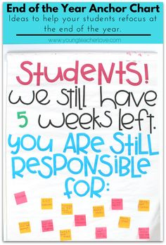 Ideas to Help Refocus Your Students at the End of the Year- Young Teacher Love by Kristine Nannini