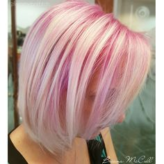 Love the pink root melting into blonde