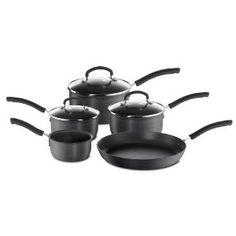 New Red Tefal Bistro 5 pièces Batterie de cuisine Casserole ensembles Non Stick Pots Et Des Casseroles Set