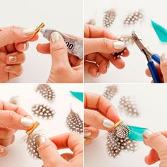DIY a cool feather necklace with these step by step instructions.