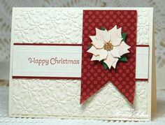 Merry Monday Cream Poinsettia by bon2stamp - Cards and Paper Crafts at Splitcoaststampers