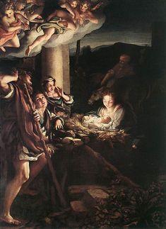 La Notte Autore:Correggio Data:1529-1530 Dove:Gemaldegalerie Dresda