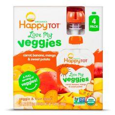 HappyTot 4PK CARROT BANA MANGO #TargetHappens