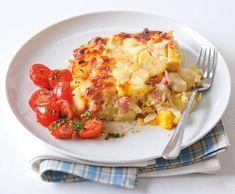 Recepty: Quiche s lučinou a rajčaty Hawaiian Pizza, Potato Recipes, Mozzarella, Cauliflower, Macaroni And Cheese, Food And Drink, Potatoes, Cooking Recipes, Vegetables