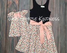 Mommy & Me Dresses. Mother and Daughter by JustSimpleKindness
