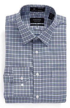 Nordstrom Men's Shop Smartcare™ Wrinkle Free Trim Fit Houndstooth Dress Shirt