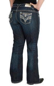 2be42c5eee4 size 18 Vigoss Women s Dark Wash Dallas Boot Cut Jean- Plus Sizes