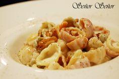 Pasta con salsa de queso Gorgonzola y nueces | Receta de Sergio