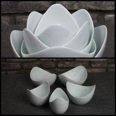 Lotus Bowls from Spin Ceramics click now for more info. Ceramic Clay, Ceramic Plates, Porcelain Ceramics, Pottery Bowls, Ceramic Pottery, Pottery Art, Cerámica Ideas, Gift Ideas, Keramik Design