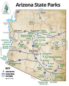 On The Map Planning Our Visit Arizona State Parks My Journey - Az state map