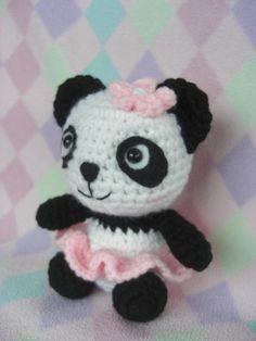"""""""Crocheted Amigurumi Panda by HarmonieCrochetShop on Etsy, $20.00>>  Must have!!"""" #Amigurumi  #crochet"""