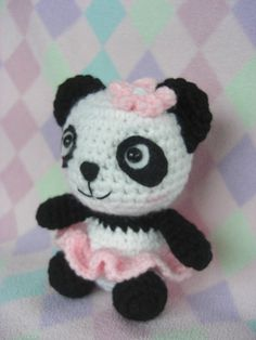 """Crocheted Amigurumi Panda by HarmonieCrochetShop on Etsy, $20.00>>  Must have!!"" #Amigurumi  #crochet"