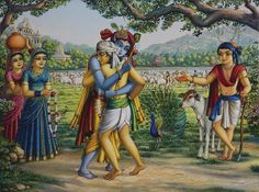 krishna and friends