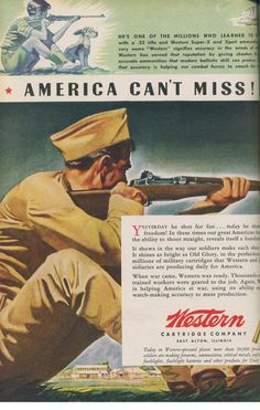 Western ammunition ad during WWII.