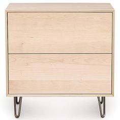 Copeland Furniture Wood Canvas 2 Drawer Dresser at Lumens.com