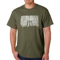 Los Angeles Pop Art Men's T-shirt - Brooklyn Bridge, Size: XL