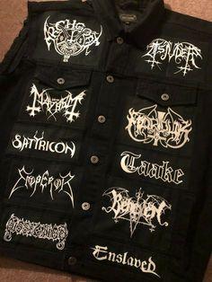 Battle Jacket, Dope Art, Jacket Brands, Death Metal, Cotton Jacket, M Color, Metal Buttons, Fiji, Black Denim