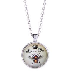 Look what I found on #zulily! Frankie & Stein Cream 'Queen Bee' Pendant Necklace by Frankie & Stein #zulilyfinds