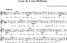 Cara de Luna Brillante Cancionero de las Dos Castillas.
