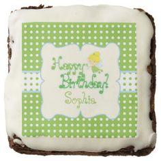 Fairy Birthday, Custom Printed Edibles Chocolate Brownie