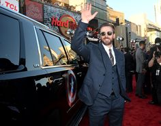 "Chris Evans at the ""Captain America: The Winter Soldier"" premiere. 