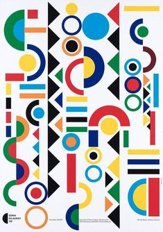 """Vintage Graphic Design Sonia Delaunay 130 - International Poster Campain [sic] devoted to the Anniversary of the Birth of Sonia Delaunay - """"The Block"""", Kharkov/Ukraine – Results – Search Objects – eMuseum Boho Pattern, Geometric Pattern Design, Retro Pattern, Graphic Patterns, Surface Pattern Design, Geometric Designs, Pattern Art, Abstract Pattern, Geometric Shapes"""