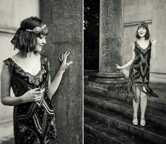 Love this modern flapper, from unique vintage I think?