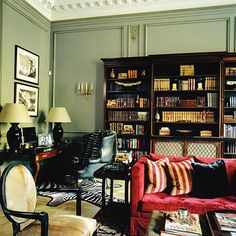 Paolo Moschino Interiors - London Townhouse- Family Room / Library