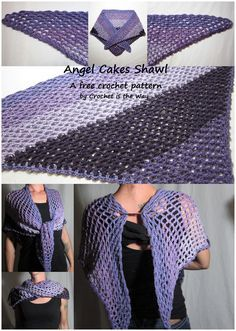 Angel Cakes Shawl - A free crochet pattern using Caron Cakes