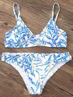 Bright Printed Bikini Set — 14.19 € -----------------------------Size: XL Color: BLUE