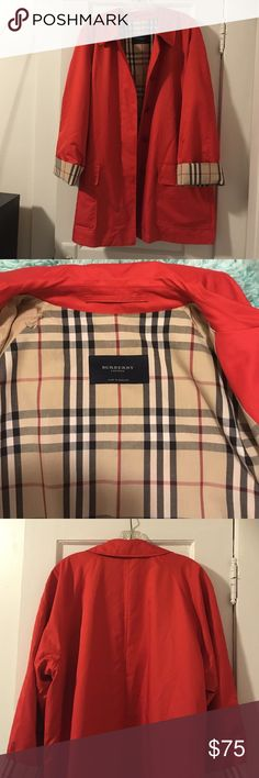 Burberry London Vintage raincoat, Good condition, two front pockets. Some ripped interior sleeve lining.  33 inches in length Burberry Jackets & Coats Trench Coats