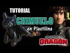 Tutorial Chimuelo (Cómo entrenar a tu Dragón) de Plastilina - YouTube