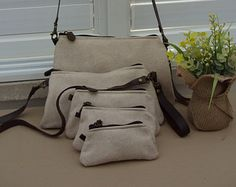 83e4e7f9ca Upholstery fabric purse ,Leather look fabric, Cream color ,Lightweight  clutch, Purse set
