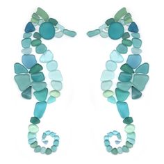 In high tide or low tide I'll be by your side. #seaglass #seahorse