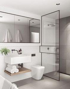 Bathroom Ideas No Tub against Bathroom Decor Rules than Bathroom Storage Mirror Cabinets around Bathroom Vanities Height only Bathroom Interior Design Charlotte Nc Wood Bathroom, Bathroom Layout, Bathroom Colors, Small Bathroom, Master Bathroom, Bathroom Ideas, Bathroom Organization, Bathroom Cabinets, Bathroom Vanities